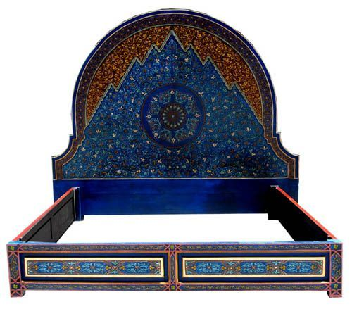 Bedroom Appealing Moroccan Bed Frame In Awesome Color Paint And