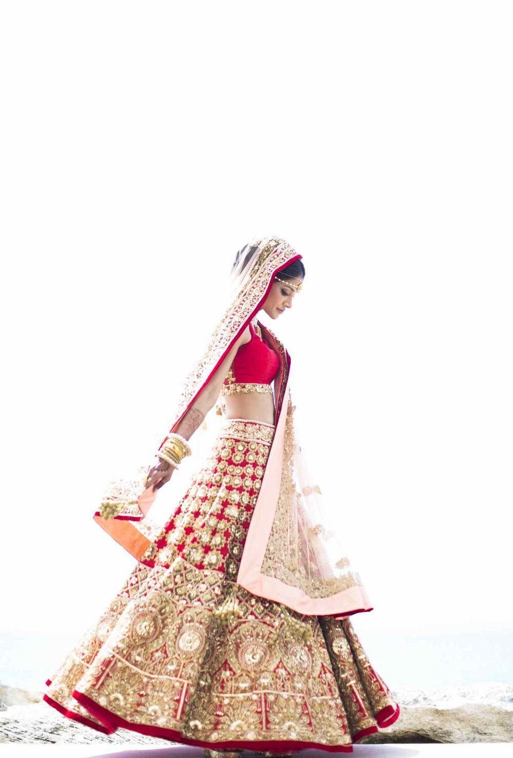 Hindu wedding dress  Glamorous Indian Waterfront Resort Wedding  Wedding Weddings and
