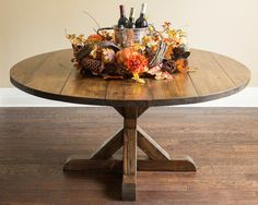 60 Round Farmhouse Table With XBase By LDJordanFurniture On Etsy