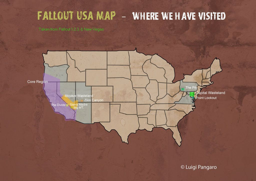 Fallout DLC USA Map by squidge16 | Fallout stuffs | Pinterest