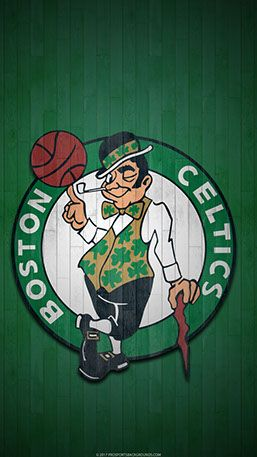 Boston Celtics Mobile hardwood Logo Wallpaper v1 Boston
