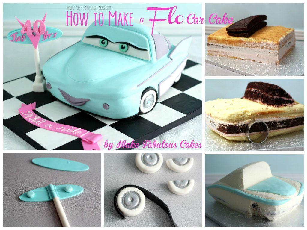 My 40th Birthday Cake How to Make a Flo Car Cake Car cakes