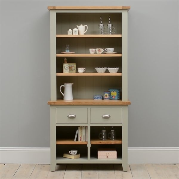 Caldecote French Grey Open Dresser