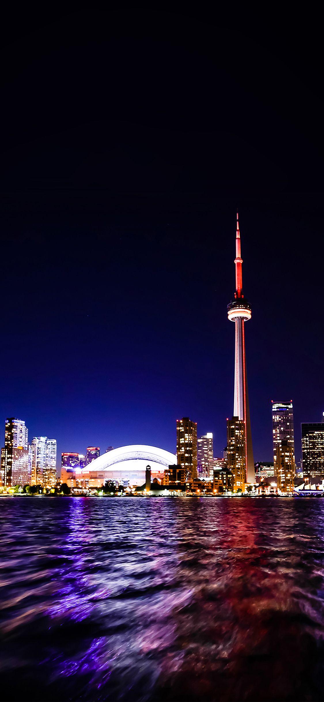 Toronto City Night Iphone X Wallpaper Toronto City Toronto Skyline Canada City