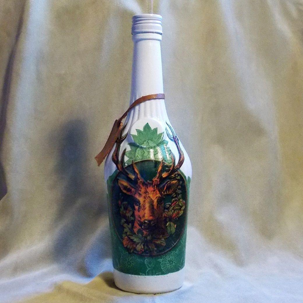 Lovecká fľaša Trofej zelená