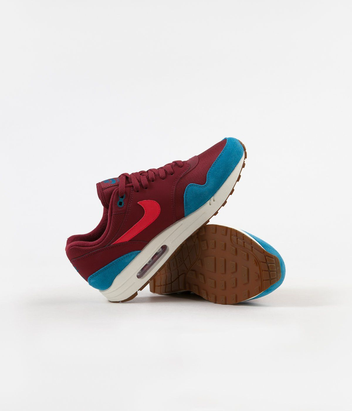 official photos pre order factory price Nike Air Max 1 Shoes - Team Red / Red Orbit - Green Abyss ...