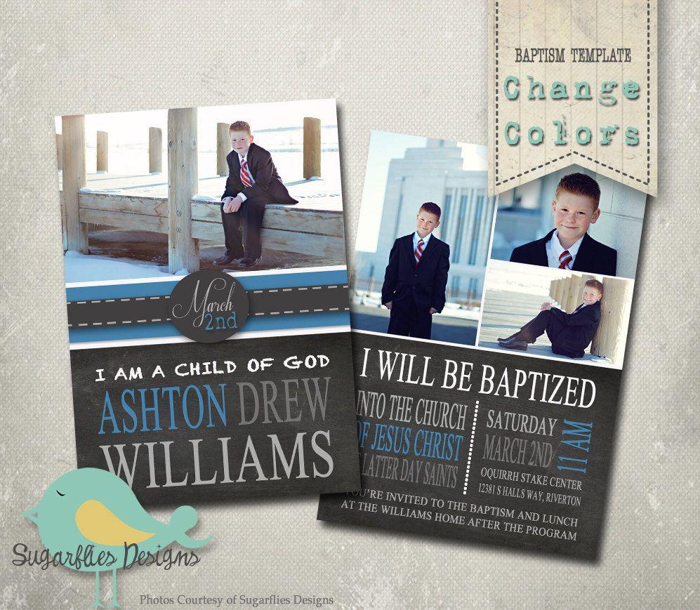 Baptism Invitation Photoshop Template Baptism Boy 01 Girl S