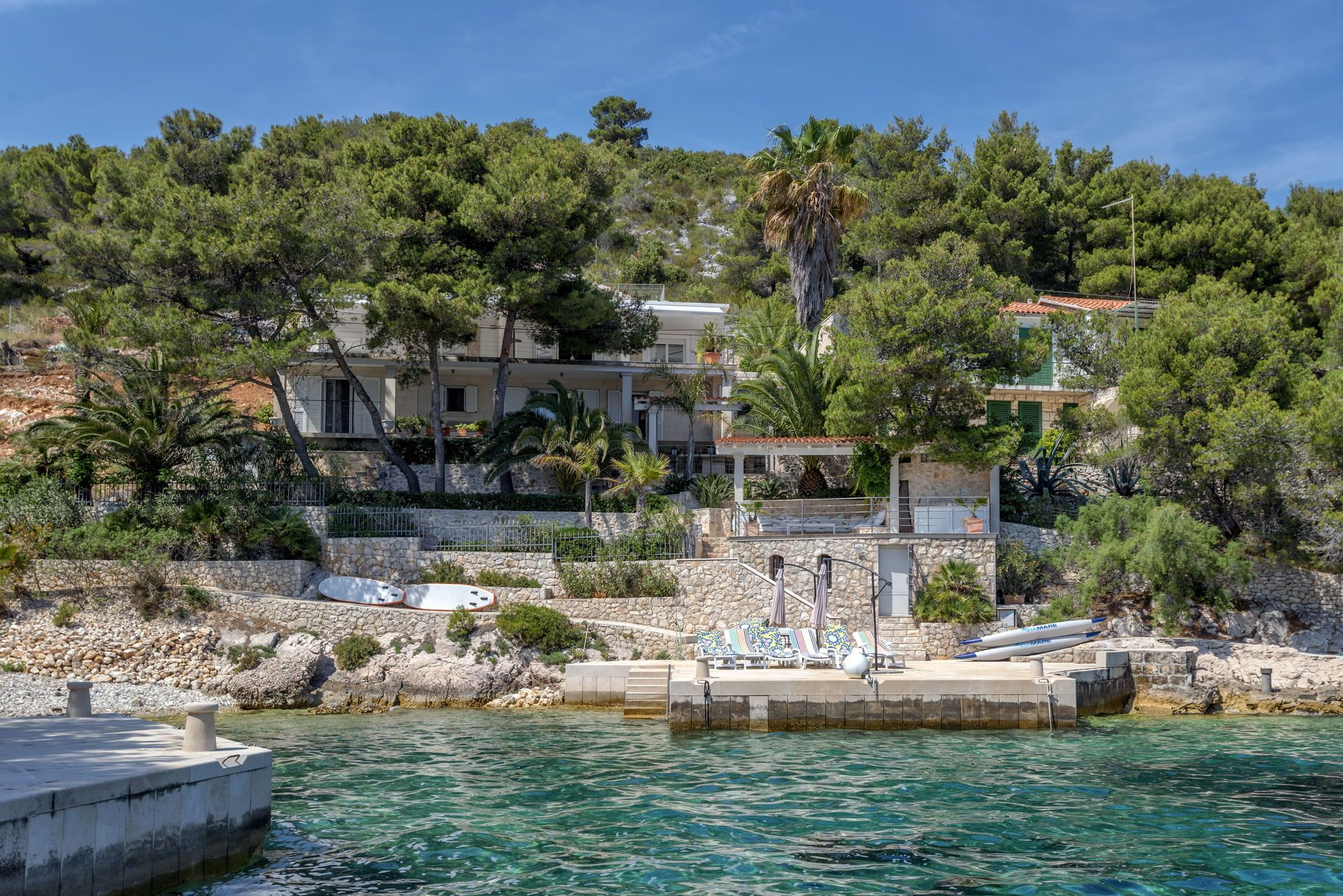 The 6 Bedroom Pet Friendly Villa For Rent Hidden In A Peaceful Bay Near Hvar Town Is Perfect For A Summer Escape Check Ren With Images Croatia Villas Villa Holiday Villa