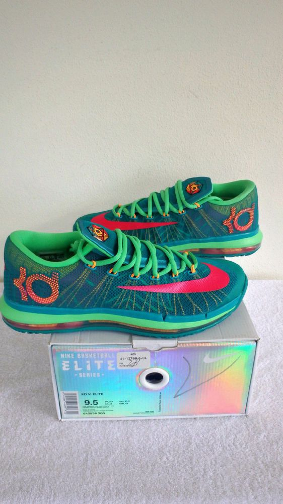 ea0a877099dc Nike Air Max KD VI 6 Elite Green Vivid Pink Mens Durant Hero Sz 9.5 642838  300  Nike  Athletic