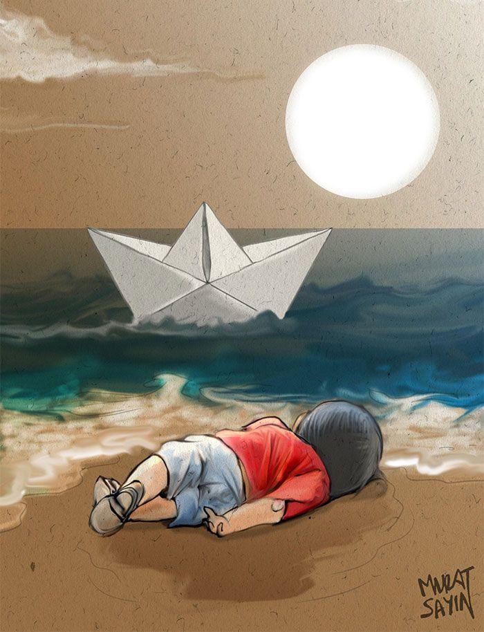 Artists Around The World Respond To Tragic Death Of 3-Year-Old - k che wei matt