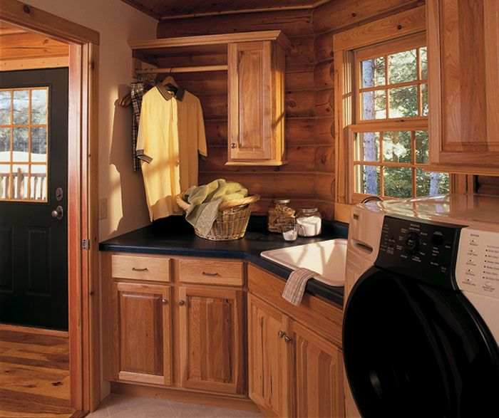 Knotty Hickory Kitchen Cabinets: The Simplicity Of The Dover Door Creates Visual Focus On