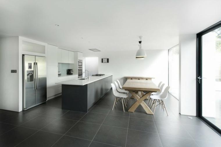 Graue Farbe, inspirierende Optionen für Bodenbelag und Dekoration ...