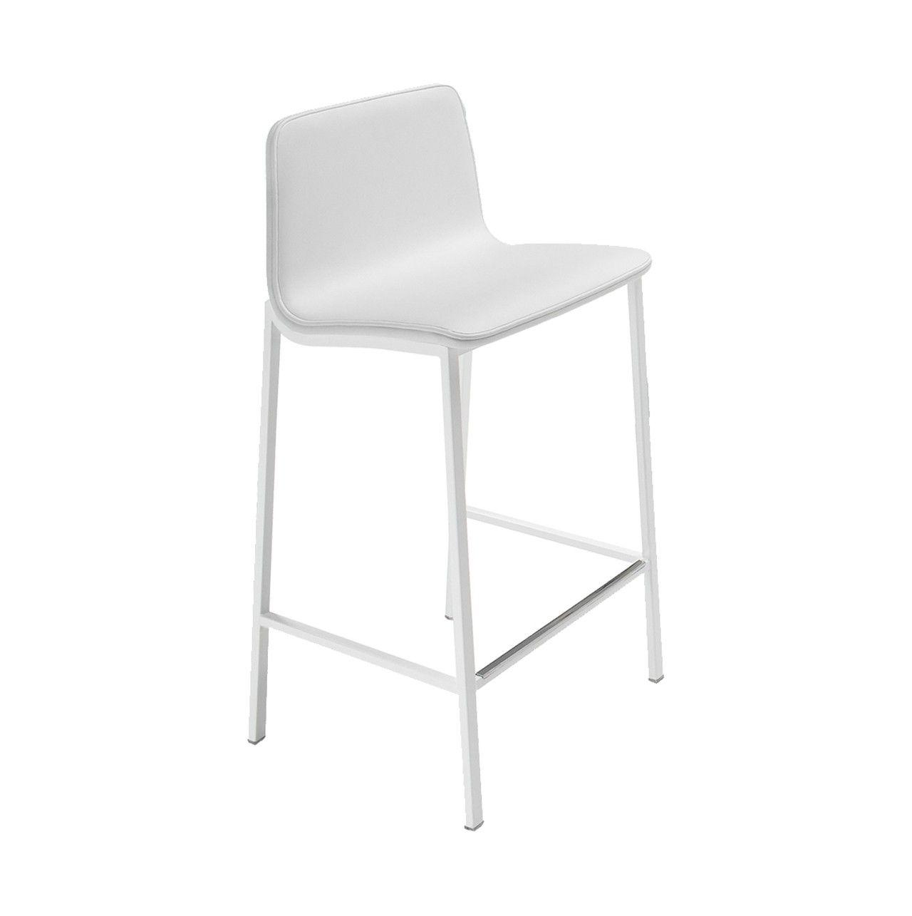 Taburete con asiento y respaldo color blanco | TABURETES | Sillas ...