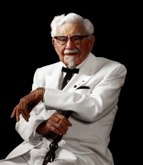 These 17 Historic Photos With Colour Added Are Incredible Colonel Sanders Kentucky Kentucky Fried