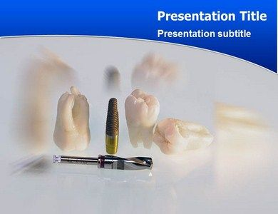 an implant teeth powerpoint template presentation aims to educate, Modern powerpoint