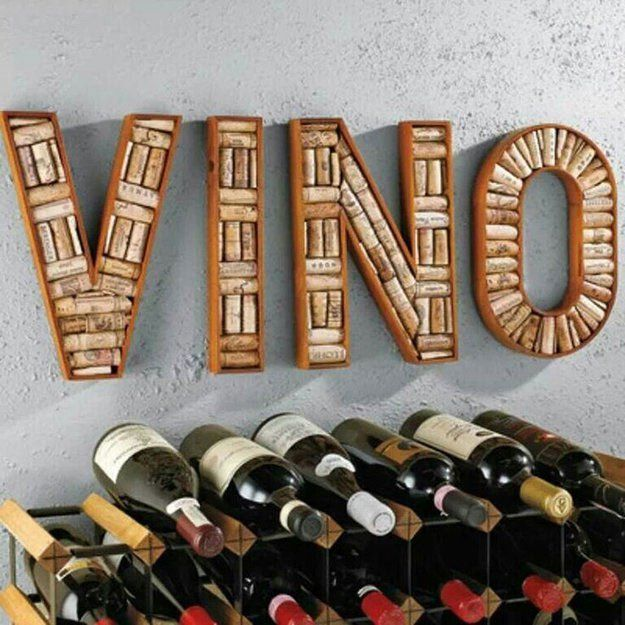 DIY Wine Rack Cork Sign Easy Home Decor Projects, check it out at