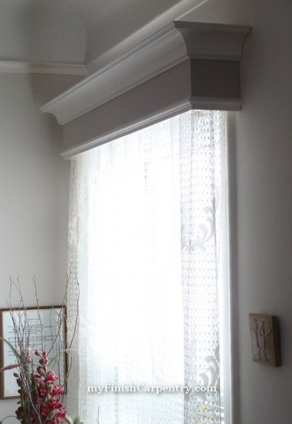 would hide the tops of the blinds and if made wider than the window could hang drapes form them