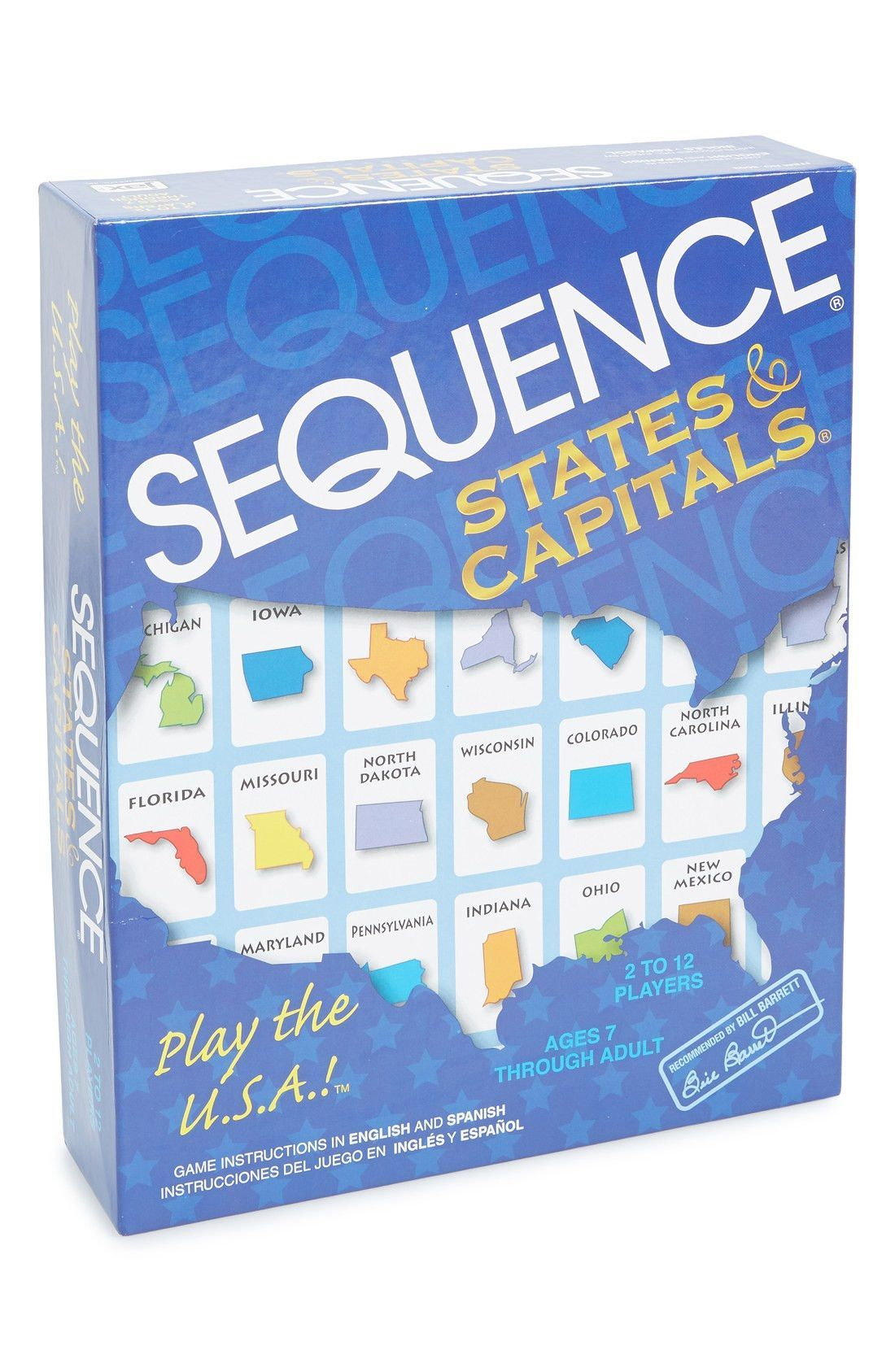 'SEQUENCE® States & Capitals' Game