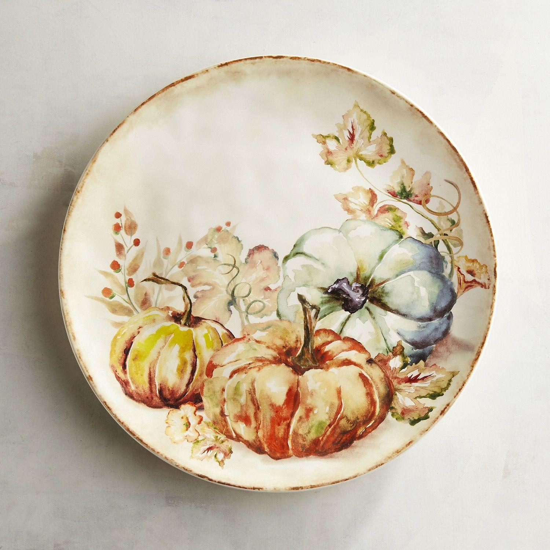 Harvest Blessing Pumpkin Dinner Plate  sc 1 st  Pinterest & Harvest Blessing Pumpkin Dinner Plate | Dinnerware and Tablewares