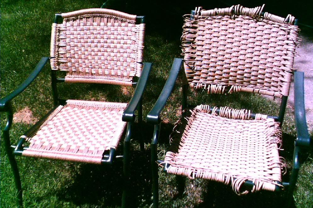 Miraculous Macrame Reweaving Of Patio Chair Has Site For Vinyl Gmtry Best Dining Table And Chair Ideas Images Gmtryco