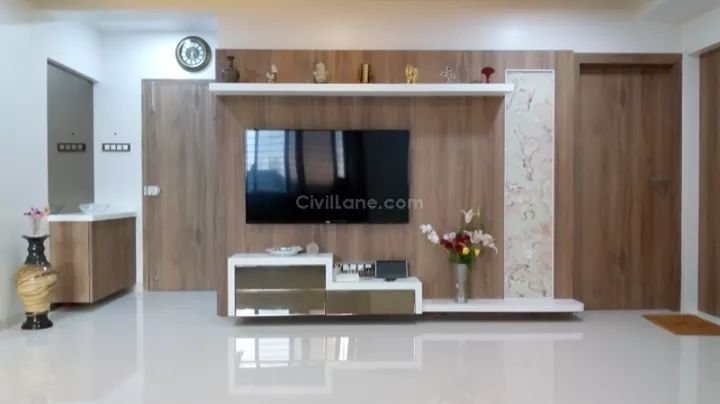 White Corian Tv Unit Design With Images Modern Tv Wall Units