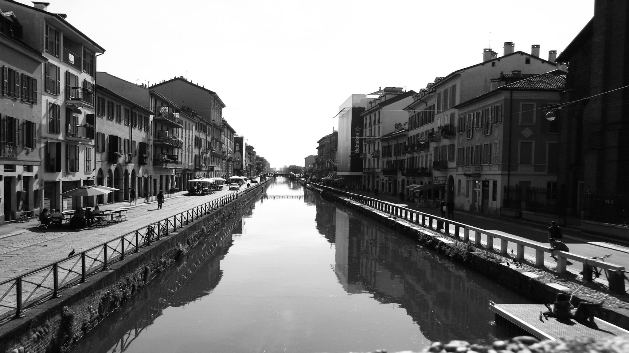 Milan, Italy. Beautiful city. Beautiful landscape. River/Canal through the centre.