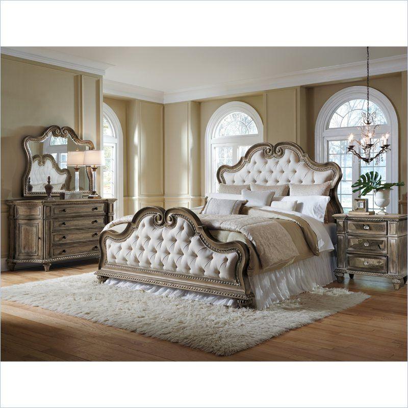Pulaski Arabella Button Tufted Upholstered Bed 211170 80 Bed Bedroom Furniture Sets Upholstered Bedroom Set Bedroom Sets