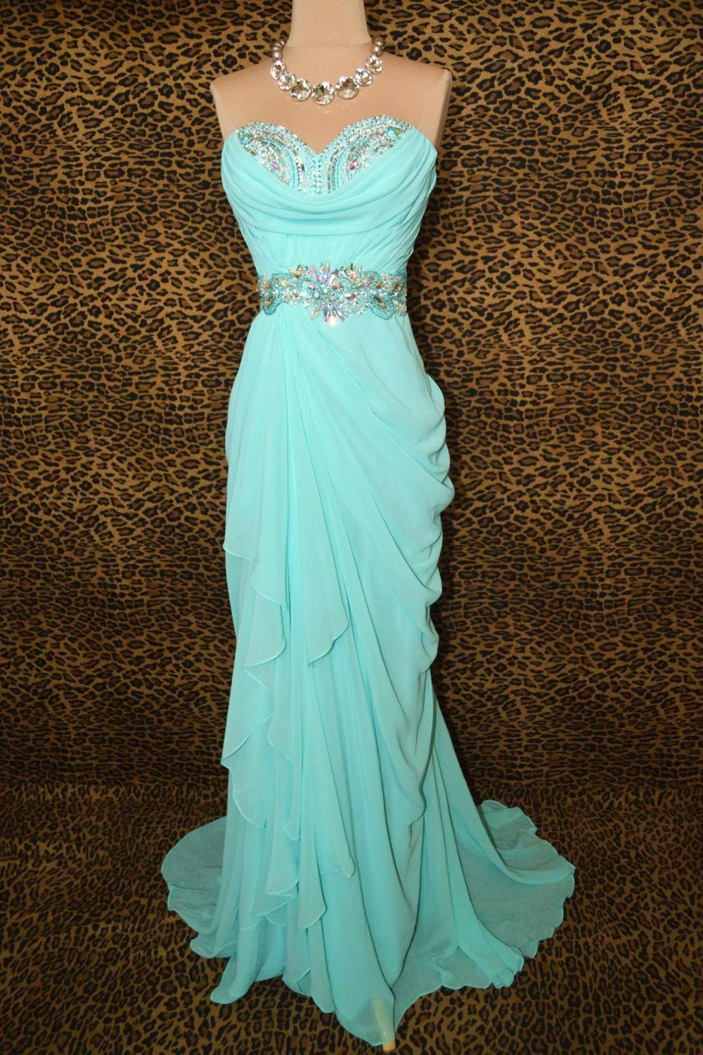 Custom made cheap long strapless chiffon prom dress by freepeoples