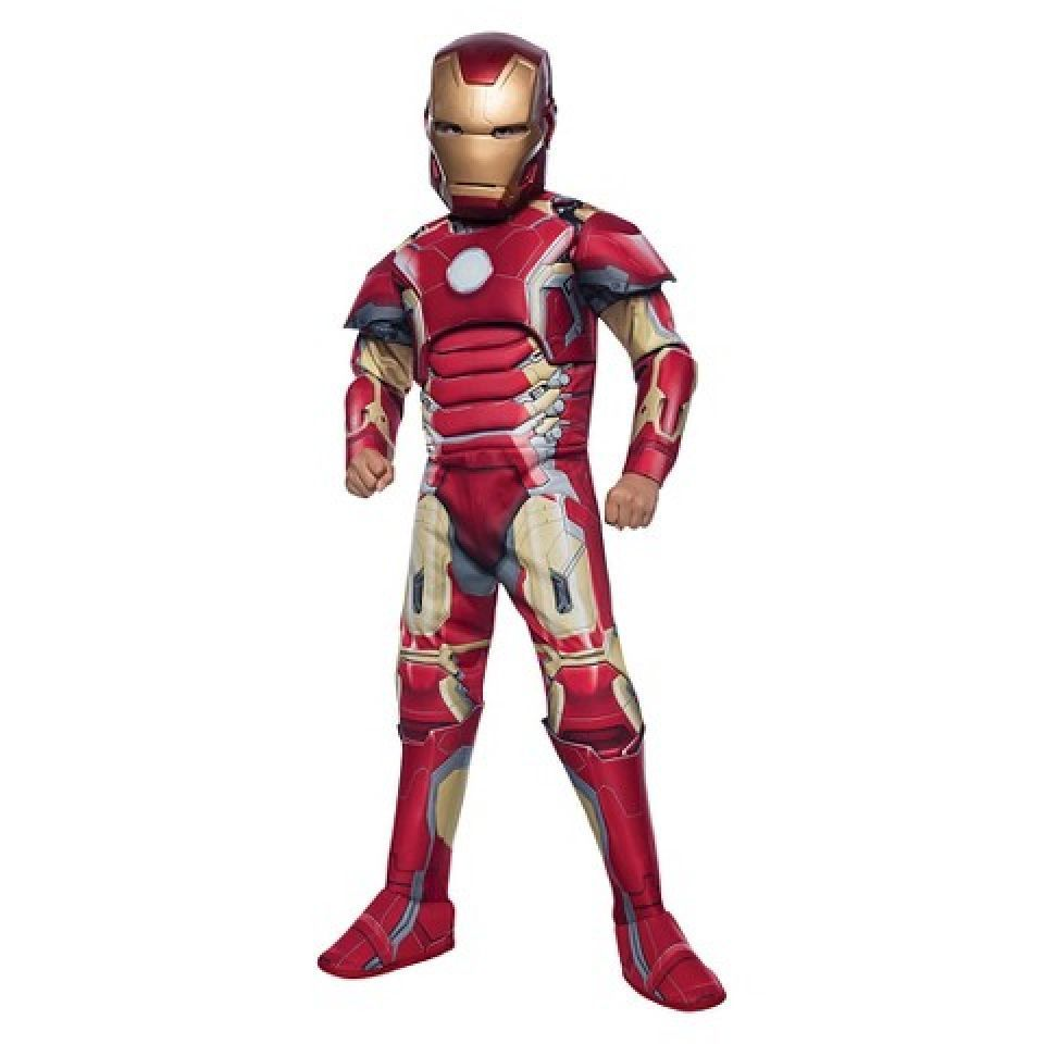 b44def1fe78b Marvels Ironman Deluxe Muscle Metalic Chest Complete Outfit NEW Sz L  Childrens #Marvel #CompleteOutfit
