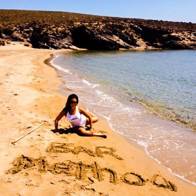 Nikki From The Bar Method Ridgewood Does Pretzel In Greece We Give Her Extra Credit For Setup Wheredoyoubar Barmethod