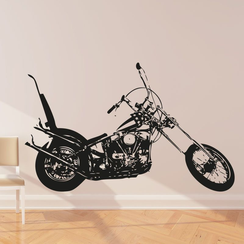 Harley Davidson Chopper Motorbike Vinyl Sticker Wall Art Decal Mb - Stickers for motorcycles harley davidsonsharley davidson decalharley davidson custom decal stickers
