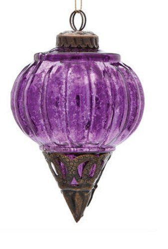 Demdado Purple Moroccan Final Glass and Metal Ornament by Demdaco Be the first to review this item Price:$8.25  Only 9 left in stock. Ships from and sold by Matthews Holiday Haus. Glass and Metal 4 Inches high One ornament Deep rich purple color Jeweled tones http://www.amazon.com/dp/B009WW5ZES/ref=cm_sw_r_pi_dp_mRz3sb0TAXDHYDV7