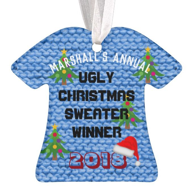 Ugly Christmas Sweater Award ornament Custom Christmas Holiday