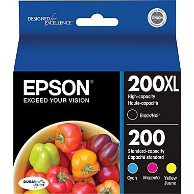 Epson 200xl 200 High Yield Black Standard Color C M Y Ink Cartridges T200xl Bcs Combo 4 Pack At Staples Epson Ink Cartridges Ink Cartridge Black Ink Cartridge
