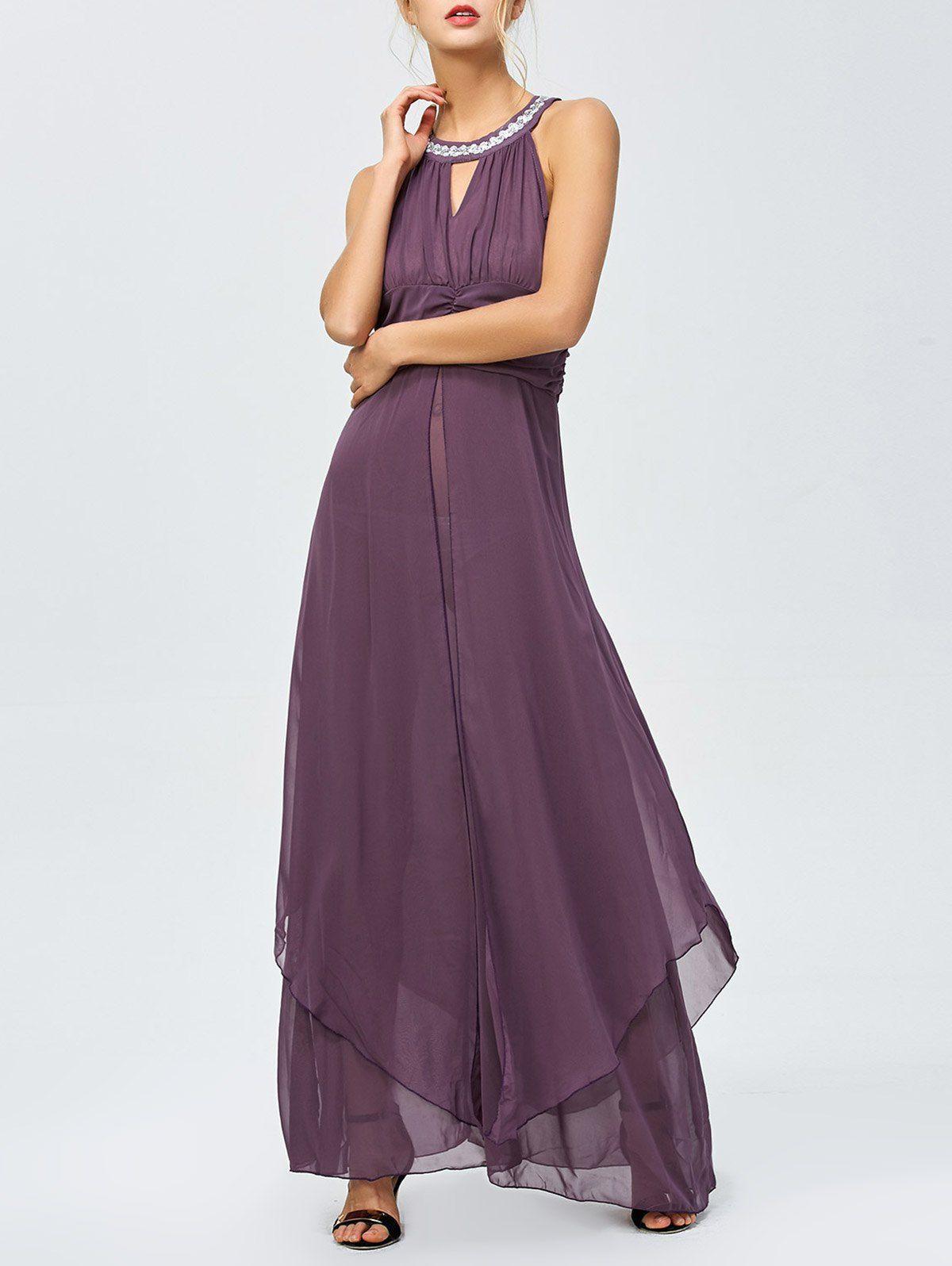 Ruched beaded seethrough maxi dress udud wish list u fun