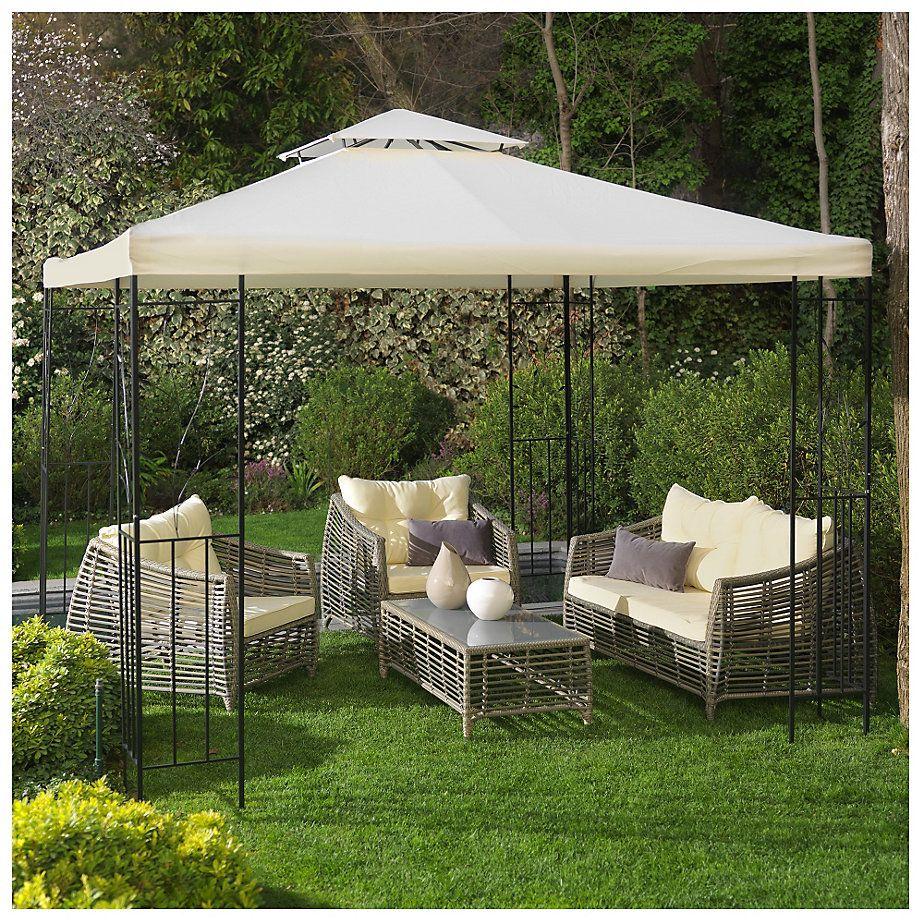 Home collection p rgola metal 300x300 cm blanco blanco for Sodimac terrazas de mayo