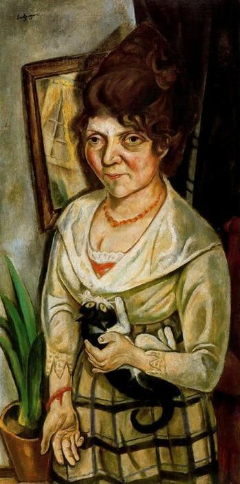 max beckmann 1884 1950 friedel battenberg 1920 with her cat pinterest max beckmann. Black Bedroom Furniture Sets. Home Design Ideas