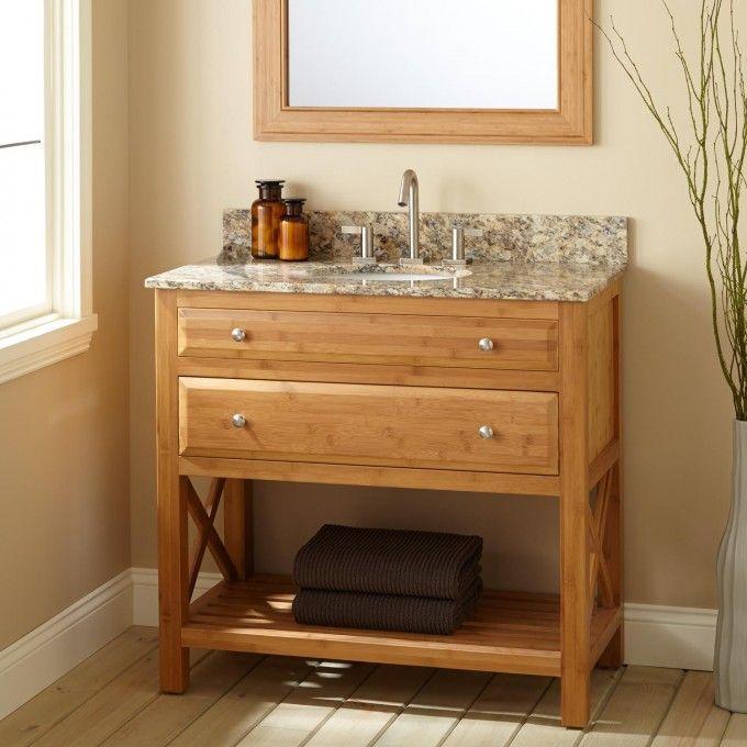 36 Narrow Castine Bamboo Vanity For Undermount Sink Bathroom Unfinished Bathroom Vanities Bathroom Vanities For Sale Home Depot Bathroom Vanity Narrow depth bathroom vanity sale
