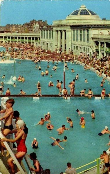 vintage blackpool postcard amazing colour endless summer pinterest piscines la piscine. Black Bedroom Furniture Sets. Home Design Ideas
