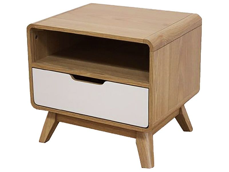 Retro bedside by big save furniture mid century modern for Funky bedside tables