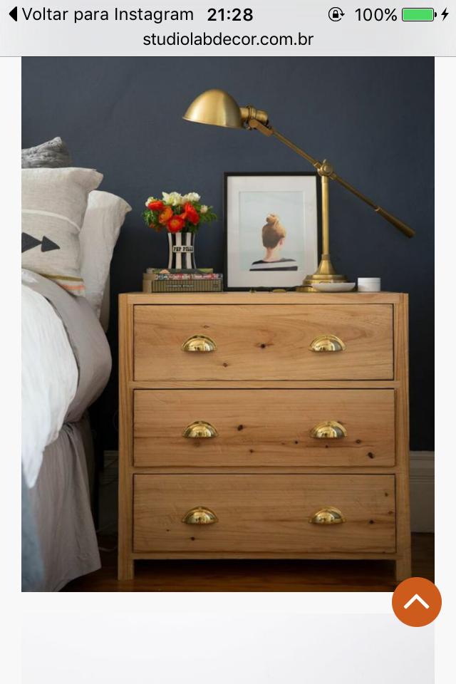 ikea tarva dresser refinished. Brass Bedside Lamp With Ikea Table, Updated Hardware Tarva Dresser Refinished