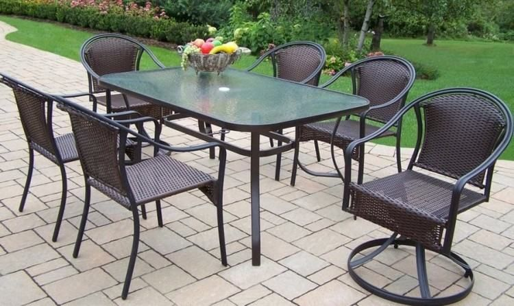 Meijer Patio Furniture Oakland Living Patio Dining Set Modern Patio Furniture