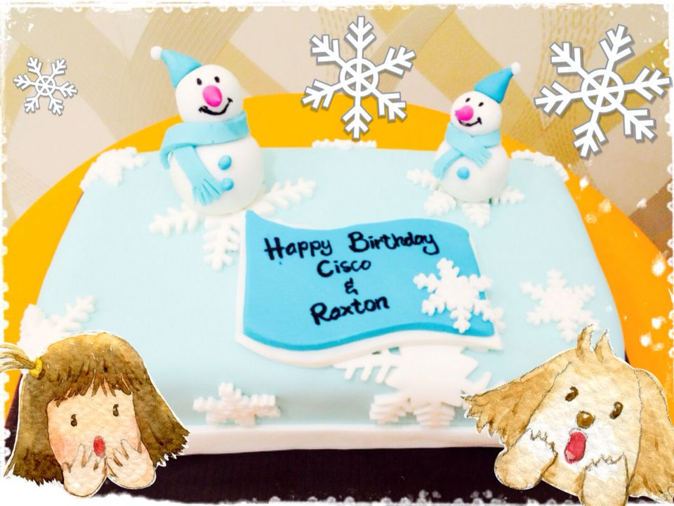 Winter Themed Emergency Birthday Cake Using Scrap Cake I Love