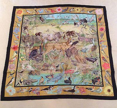 Hermes Caesar Kleberg King Ranch Texas 90 scarf Kermit Oliver NIB ... bf6a1a4736d