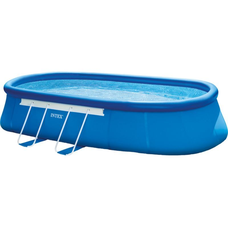 Intex Oval Frame 20\' x 12\' x 48\'\' Backyard Pool with Filter Pump