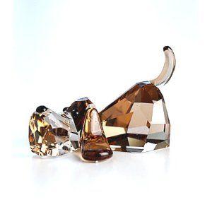Cavallo A Dondolo Swarovski.Crystal Basset Swarovski Vetro Colorato E Cristalli