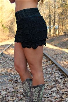 748438c58574 JUNIOR PLUS SIZE Gum Drop Lace Shorts - Black (RUNS SMALL)  29.99   SouthernFriedChics