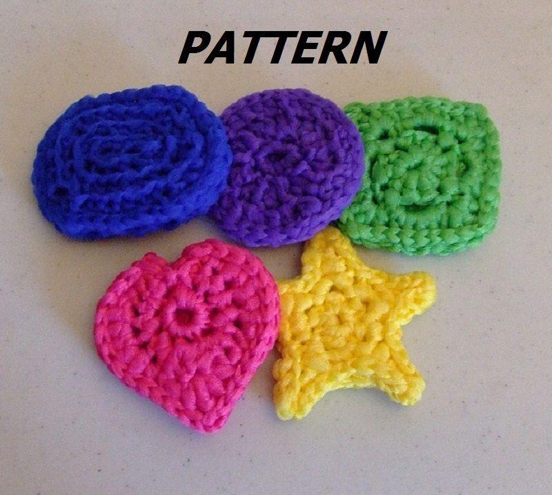 PATTERN Pot Scrubber Shapes Crocheted by BucketFullofMemories on ...