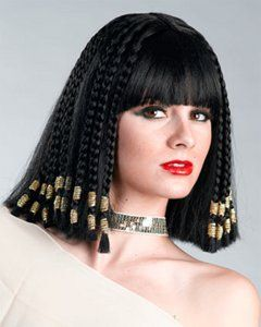 Egyptian Cleopatra Nefertiti Queen Wig Egyptian Hairstyles Costume Wigs Cleopatra Hair