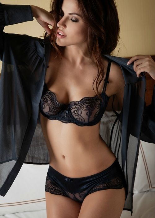 Sexy sheer black lingerie excellent